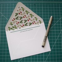 Hand painted envelope liner