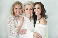 Generations portrait of mother and daughters by Northern Virginia top photographer Melody Yazdani at Melody Yazdani Studios in Vienna Virginia