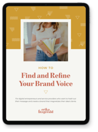 An iPad mockup with copywriting tips for creatives
