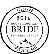 Rocky Mountain Bride Magazine featured wedding photographer