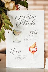 pirouettepaper.com | Wedding Stationery, Signage and Invitations | Pirouette Paper Company | Bar Signs and Bar Menus | Watercolor Signature Drinks 26