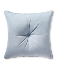 Outdoor Pillow With Tassels Coastal Blue
