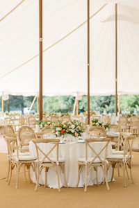 Lux tent wedding ceremony and reception on privary family estate in Easton, Maryland