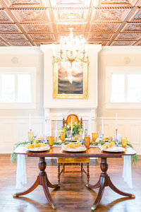 Southern plantation wedding estate table