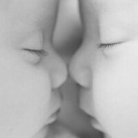 Boy Girl Twin Photography - Nose Touching-1