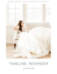 wedding day timelines