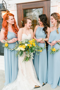 Southern porch bridal party