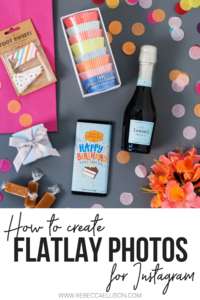 how to create flatlay photos for instagram