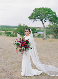 hill country blush color wedding decor