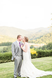 Purple & Teal Villa Nove Vineyards Summer Wedding-301