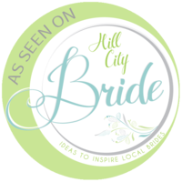 """As Seen on Hill City Bride"" badge"