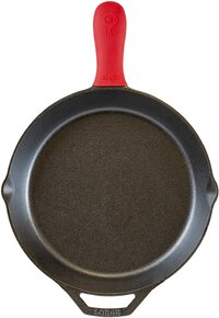 Lodge Pre-Seasoned Cast Iron Skillet with Assist Handle Holder, 12_