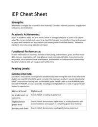 iep cheat sheet freebie