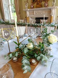 Green and gold foliage wedding 6