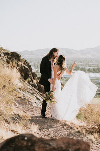 Couples Adventure At The Butte  - Atlas Rose Photography AZ 01