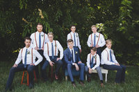 Groomsmen vogue pose