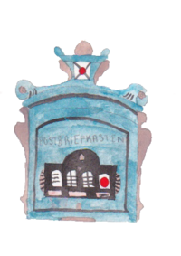 German-Blue-Letterbox