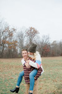 CVNP Candid Winter Engagement