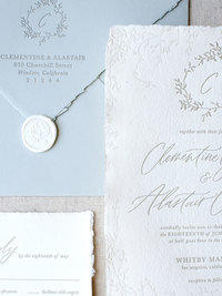 Semi-Custom Invitation Collection - Cascading Beauty 4-Piece Suite Closeup 4 Thumb