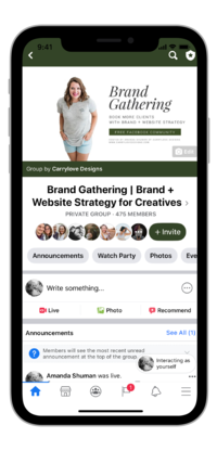 Brand and Plan Carrylove Designs Facebook Community