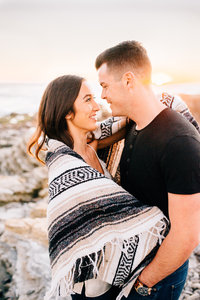 Boho beach engagement photography at Montana de Oro by Amber McGaughey