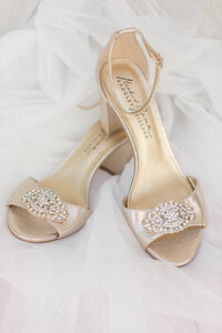 gold and rhinestone wedding shoes
