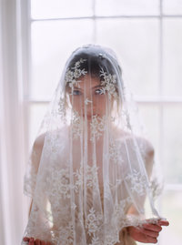 Antique wedding veil from wedding in Bluemont, Virginia.  Image by top Washington DC wedding photographer Jalapeno Photography.