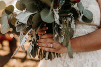 J.Michelle Photography photographs a eucalyptus bridal bouquet at McDonough, Ga wedding