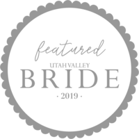 featured in utah valley bride badge