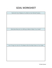 Rental Property Goal Tracker