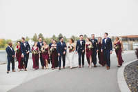 Bridal party walking photo
