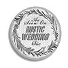 Rustic Wedding Chic Button