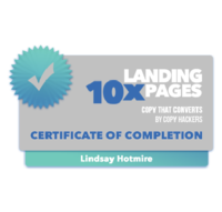 10x Landing Pages- Badge of Completion - LH-01