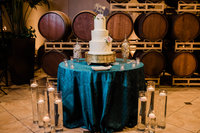 Three Tiered Wedding Cake in Pleasanton Palm Event Center