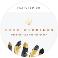 Link to a blog on boho weddings featuring him and her wedding photography