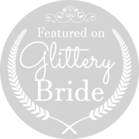 Glittery Bride Badge Light Grey