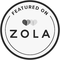 black and white featured on zola badge