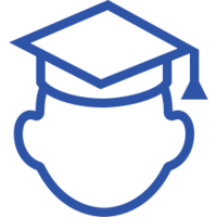 blue teacher icon