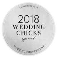 Wedding Chicks badge BW