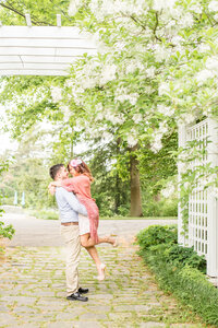 Summer Engagement Session at Newfields