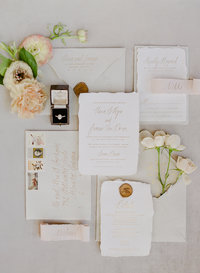 invitation suite for a Charleston wedding