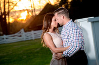 engagement portrait at wildberry farm in marion, sc