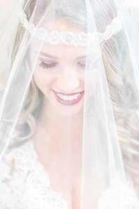 Bride Wearing Her Veil Over Her Face