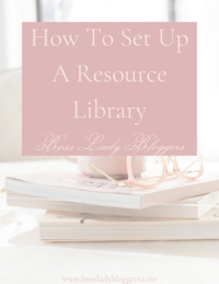 How To Set Up A Resource Library
