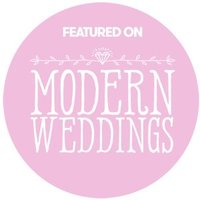 modern weddings featured wedding vendor badge