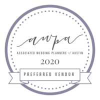 Associated Wedding Planners of Austin Preferred Vendor 2020