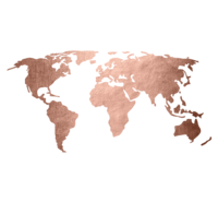 Rose Gold Map