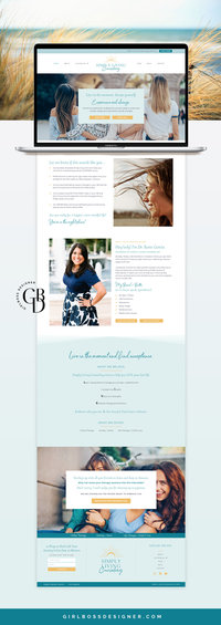 Simply Living Counseling - Website-Mockup