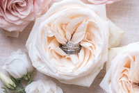 Photo of Wedding bands in flowers