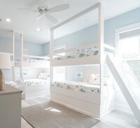 Light blue bunk bed design project